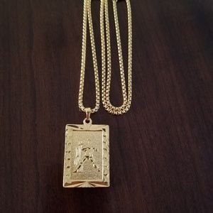 Other - Aquarius Zodiac Sign 18K Gold Filled Necklace